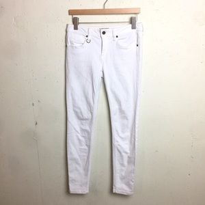 Burberry Westbourne Skinny Ankle White Jeans 29